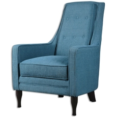 Uttermost Katana Peacock Blue Armchair