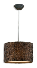Uttermost Knotted Rattan Hanging Shade in Brown