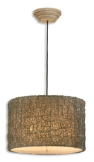 Uttermost Knotted Rattan Hanging Shade in Ivory