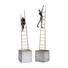 Uttermost Ladder Climb Sculpture Set of 2
