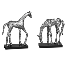 Uttermost Let's Graze Horse Statues Set of 2