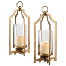 Uttermost Lucy Gold Candleholders Set of 2
