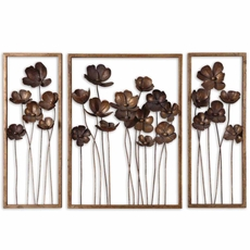 Uttermost Metal Tulips Wall Art Set of 3