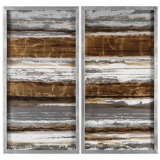 Uttermost Metallic Layers Wall Art Set of 2