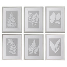 Uttermost Moonlight Ferns Framed Art Set of 6