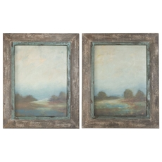 Uttermost Morning Vistas Framed Art Set of 2