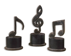 Uttermost Music Notes Sculptures Set of 3