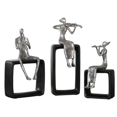 Uttermost Musical Ensemble Statues Set of 3