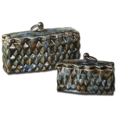 Uttermost Neelab Ceramic Containers Set of 2