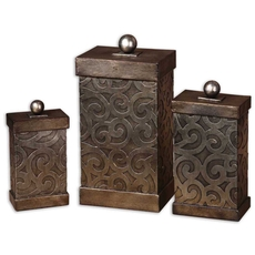 Uttermost Nera Metal Decorative Boxes Set of 3