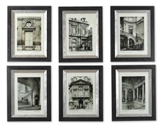 Uttermost Paris Scene Prints Set of 6