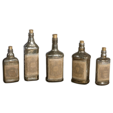 Uttermost Recycled Bottles Set of 5