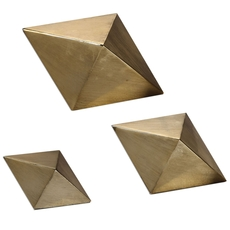 Uttermost Rhombus Champagne Accents Set of 3