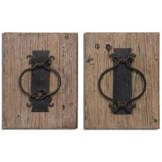Uttermost Rustic Door Knockers Wall Art Set of 2