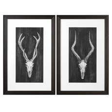Uttermost Rustic European Mounts Wall Art Set of 2