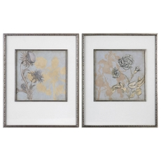 Uttermost Shadow Florals Wall Art Set of 2