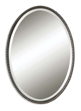 Uttermost Sherise Oval Mirror in Bronze