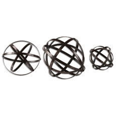 Uttermost Stetson Bronze Spheres Set of 3