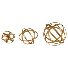 Uttermost Stetson Gold Spheres Set of 3