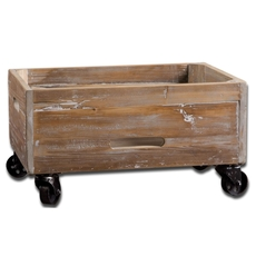 Uttermost Stratford Reclaimed Wood Rolling Box
