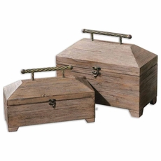 Uttermost Tadao Natural Wood Boxes Set of 2