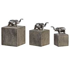 Uttermost Tiberia Elephant Sculpture Set of 3