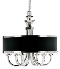 Uttermost Tuxedo 6 Light Single Shade Chandelier