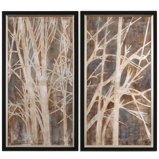 Uttermost Twigs Hand Painted Art Set of 2