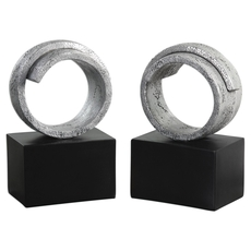 Uttermost Twist Bookends Set of 2