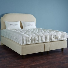 Clearance Vispring Sublime Superb Firm/Medium Dual Coil Tension King Mattress with Foundation Set SDMS0519BR7