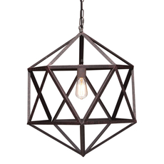 Zuo Era Amethyst Ceiling Lamp Small in Rust