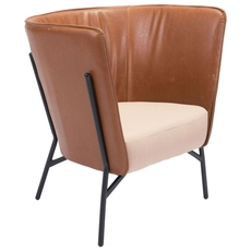 Zuo Era Assange Occasional Chair in Coffee and Beige