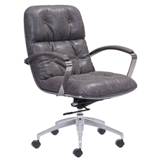 Zuo Era Avenue Office Chair in Vintage Gray