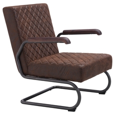 Zuo Era Father Lounge Chair in Vintage Brown