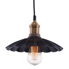 Zuo Era Hamilton Anitque Black and Copper Ceiling Lamp