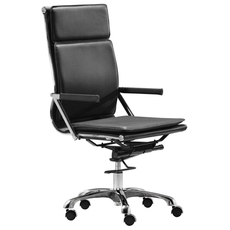 Zuo Modern Lider Plus High Back Office Chair in Black