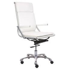 Zuo Modern Lider Plus High Back Office Chair in White