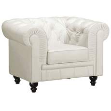 Zuo Modern Aristocrat Armchair in White