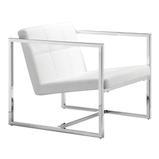 Zuo Modern Carbon Chair in White
