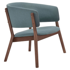 Zuo Modern Chapel Lounge Chair in Blue Set of 2