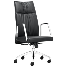 Zuo Modern Dean High Back Office Chair in Black