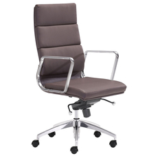 Zuo Modern Engineer High Back Office Chair in Espresso