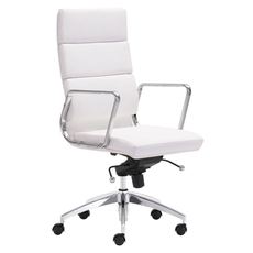 Zuo Modern Engineer High Back Office Chair in White