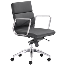 Zuo Modern Engineer Low Back Office Chair in Black