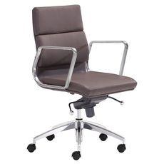 Zuo Modern Engineer Low Back Office Chair in Espresso