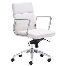 Zuo Modern Engineer Low Back Office Chair in White