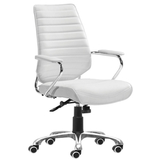 Zuo Modern Enterprise Low Back Office Chair in White