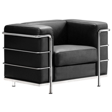 Zuo Modern Fortress Arm Chair in Black