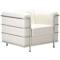 Zuo Modern Fortress Arm Chair in White