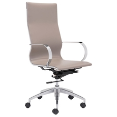 Zuo Modern Glider Hi Back Office Chair in Taupe